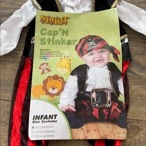 Pirate costume size 6-12months